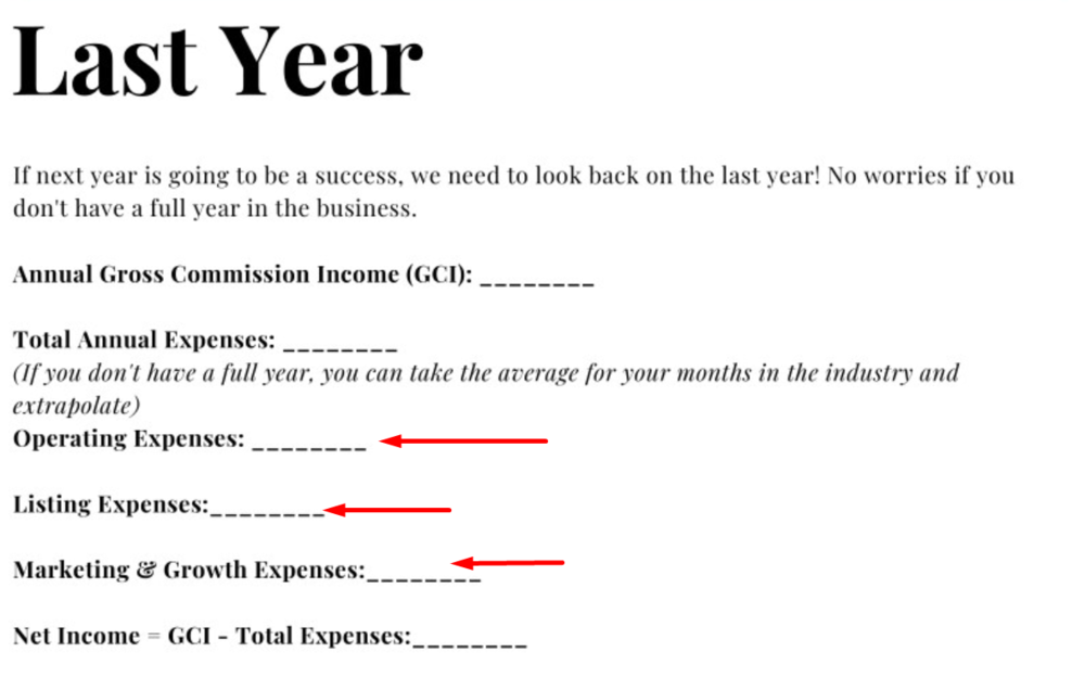 Real estate agent expense tracking