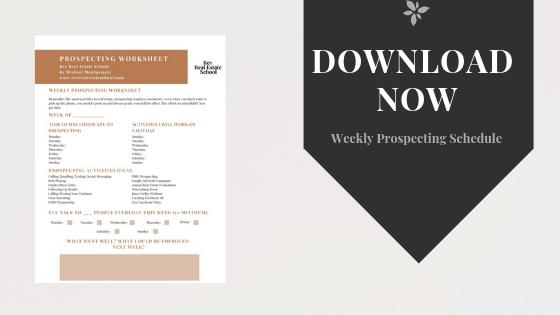 Weekly Prospecting Schedule Template