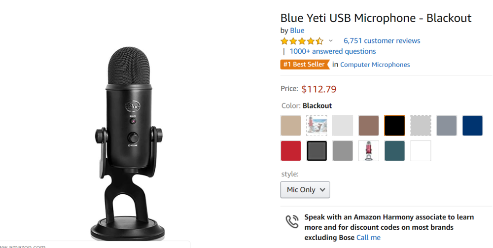 Podcast Microphone USB