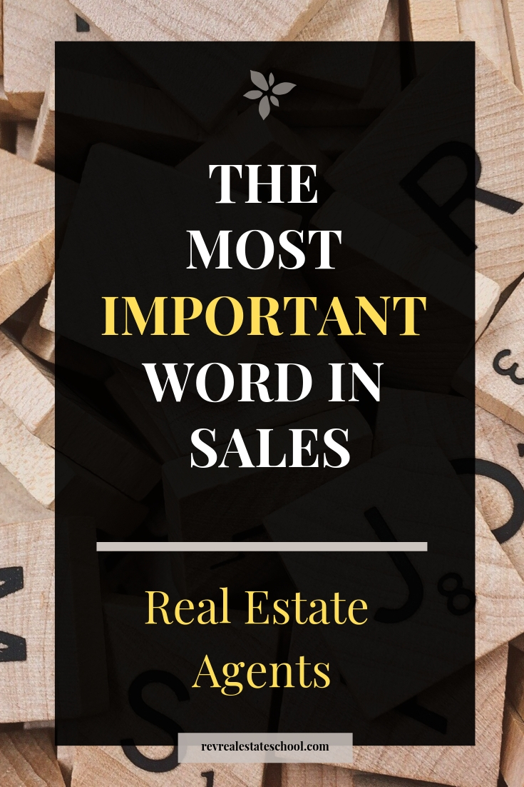 The Most Important Word in Sales