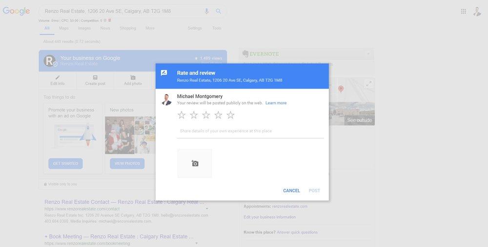 Google Review Link Real Estate