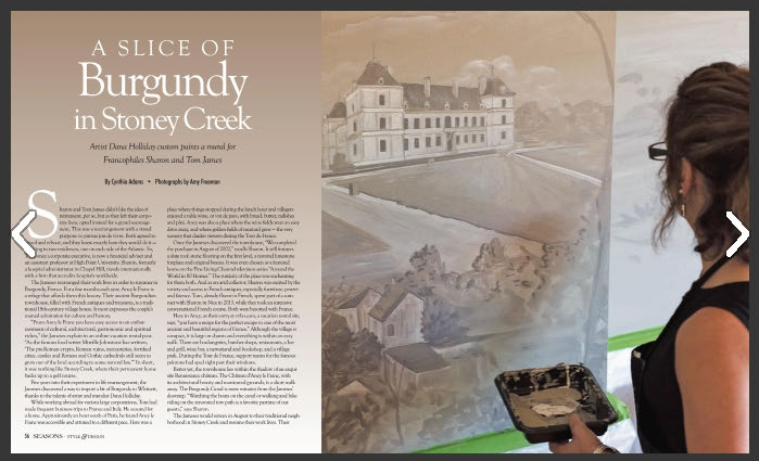 """O'Henry Season Style and Design Spring 2017 Issue, """"A Slice of Burgundy in Stoney Creek"""". Download Article"""
