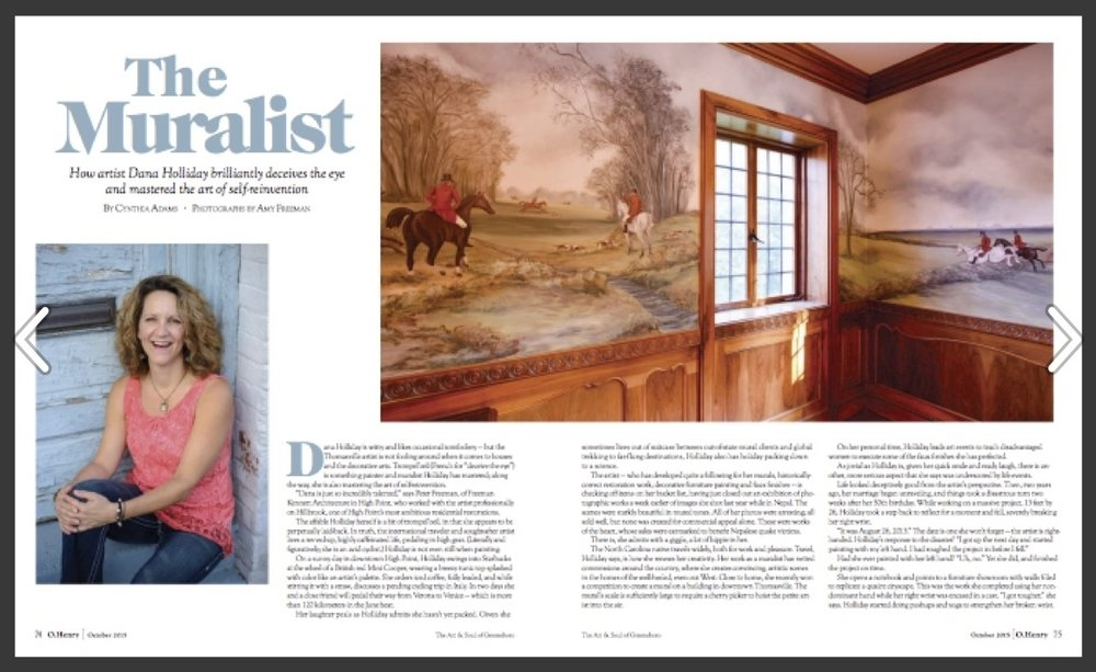"""O'Henry October 2015 Issue, """"The Muralist"""" Download article"""