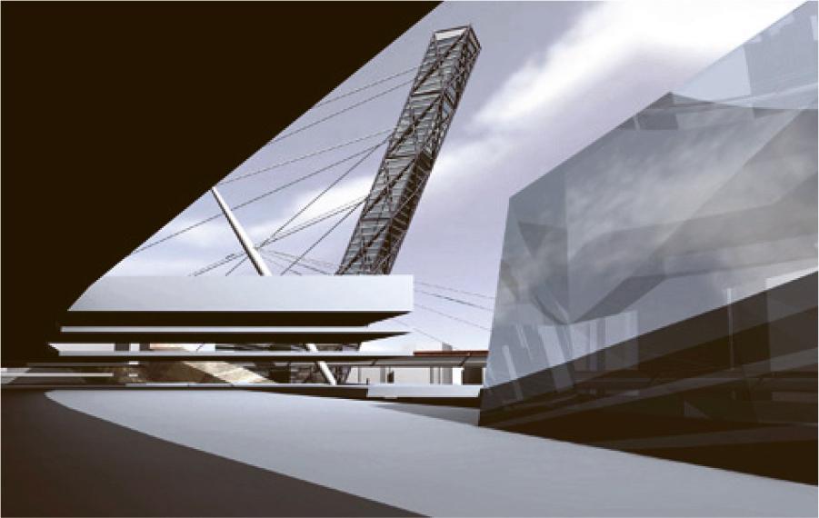 Конкурсный проект реконструкции района г.Осака. Япония 2004