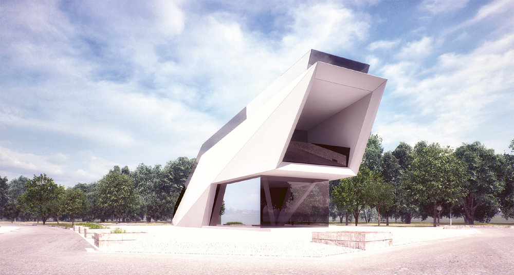 "Multifunctional pavilions ""Victory Park"" on Poklonnaya Gora Moscow 2015"