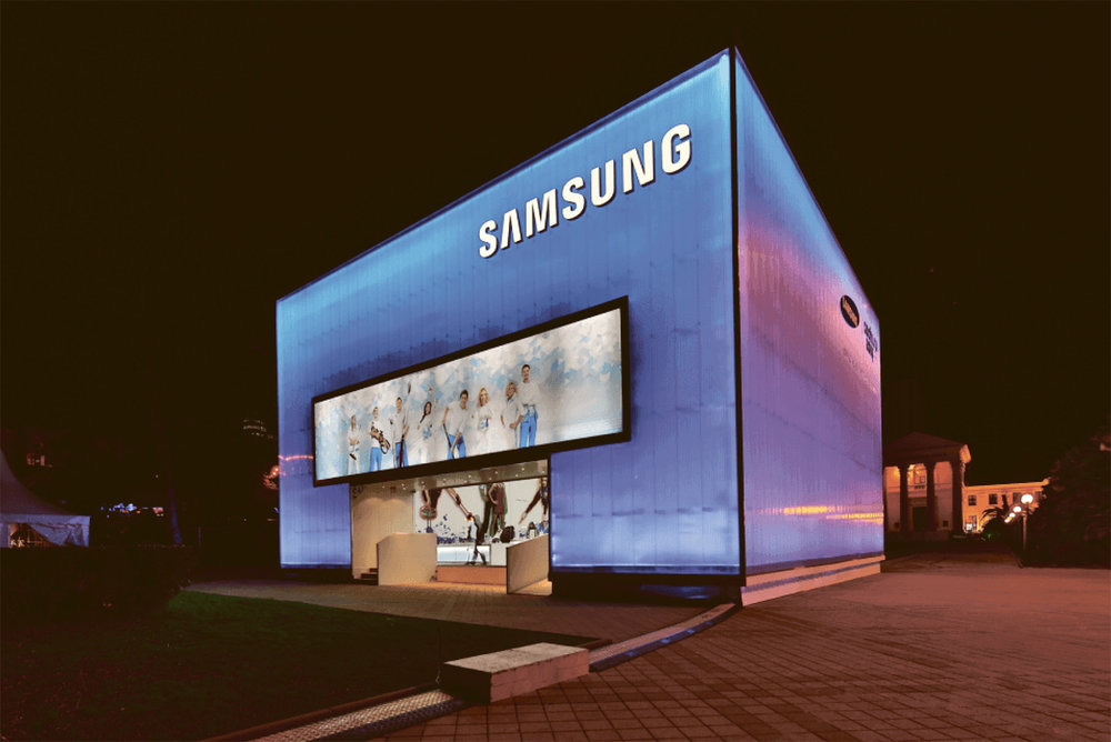Pavilion of Samsung, general sponsor of the XXII Winter Olympic Games participation in the project of Nussli (Schweiz) AG, Sochi, 2014