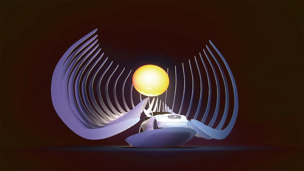 Оформление презентации новой модели автомобиля Infiniti компании Nissan, 2012