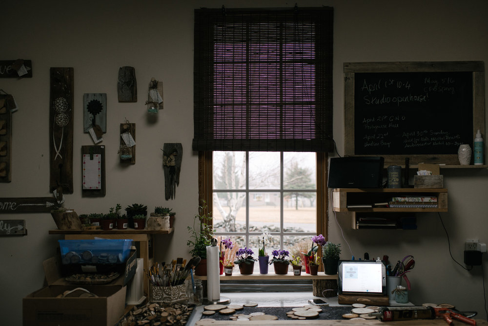 the view from Lisa's desk at her studio