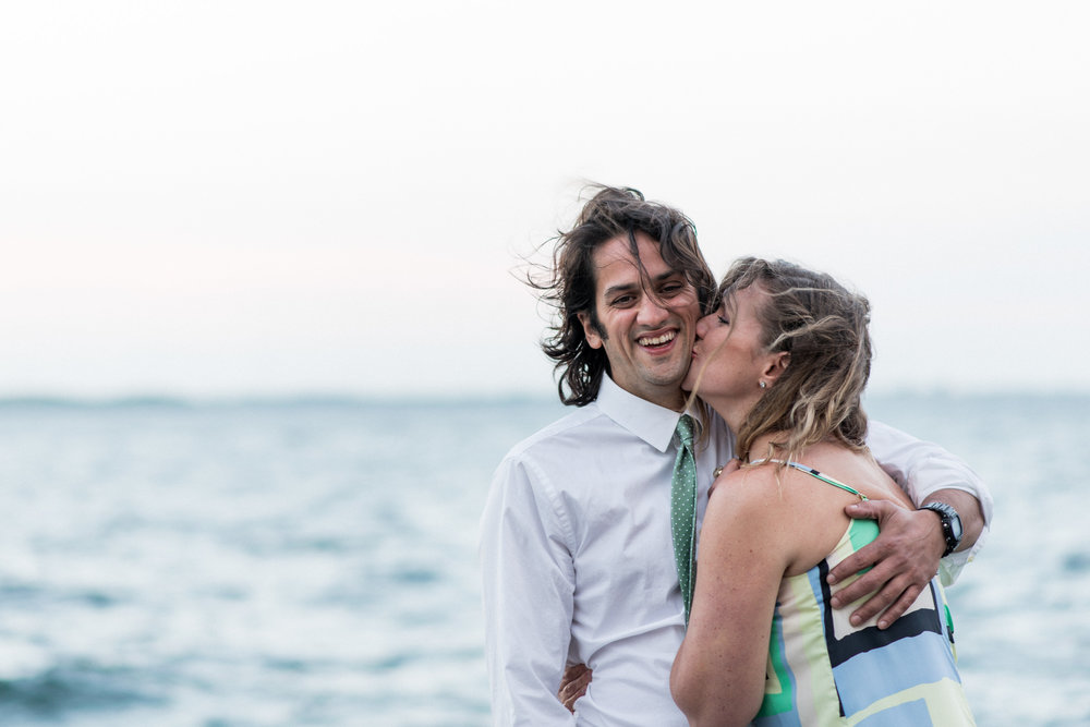 A beautiful summer evening, perfect for kissing by the water (Kingston waterfront)