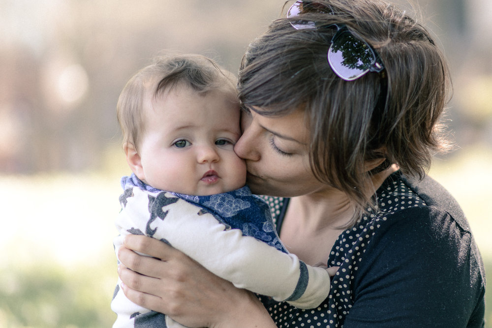 Little baby girl had a mini photoshoot with mom, which meant lots of kisses (City Park, Kingston)