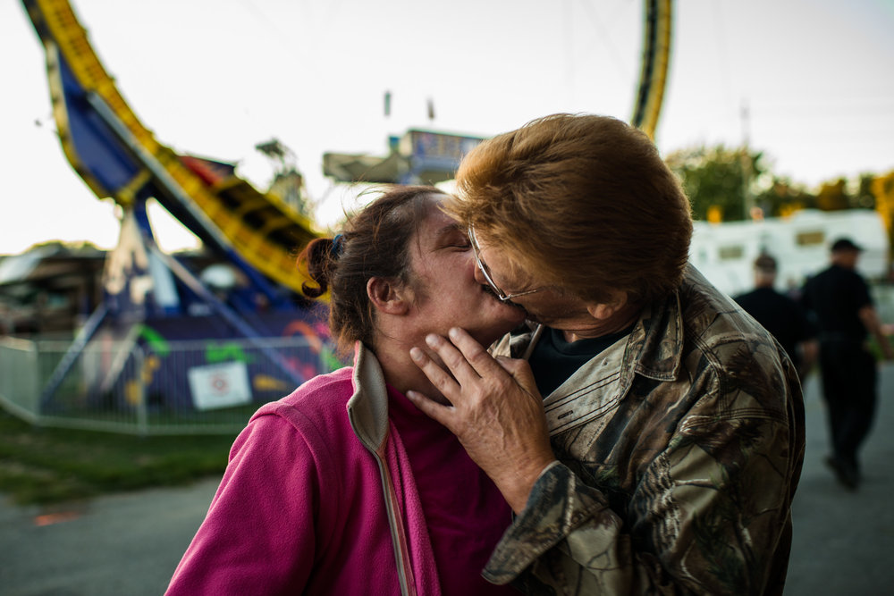 Kingston fair is like no other; here we captured some smooches between these two lovebirds.
