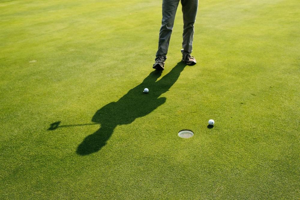 golfing groomsmen