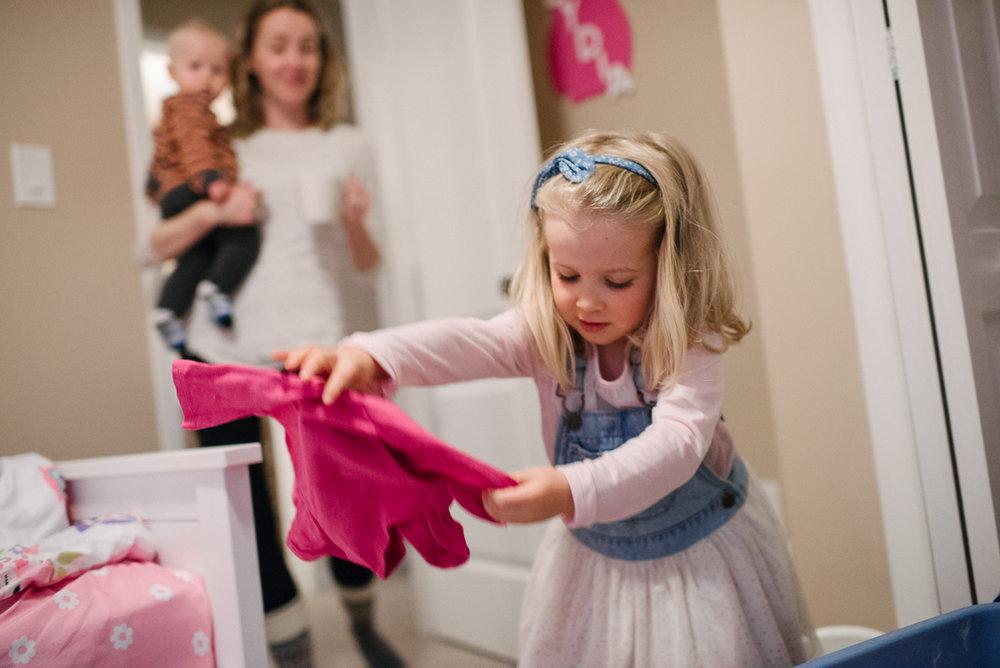 Girl with pink shirt