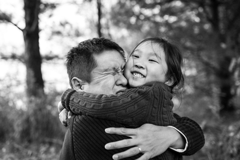 A big squeeze for dad.