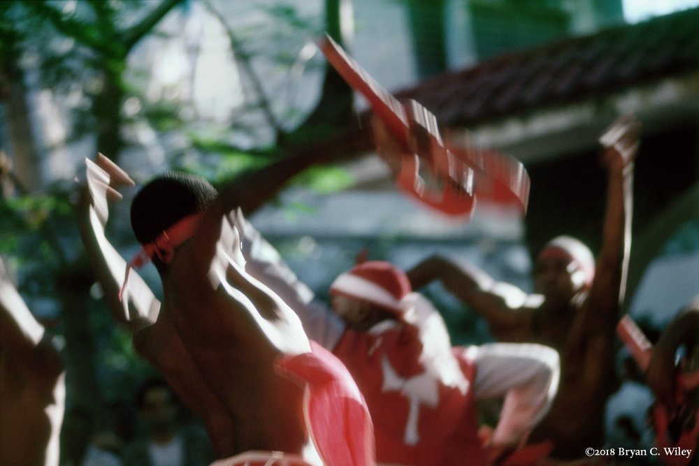 A praise for Shango.   La Habana, Cuba