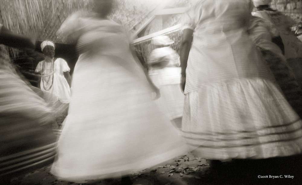 Spinning Skirts, at a Candomblé ceremony.  Cachoeira, Brazil
