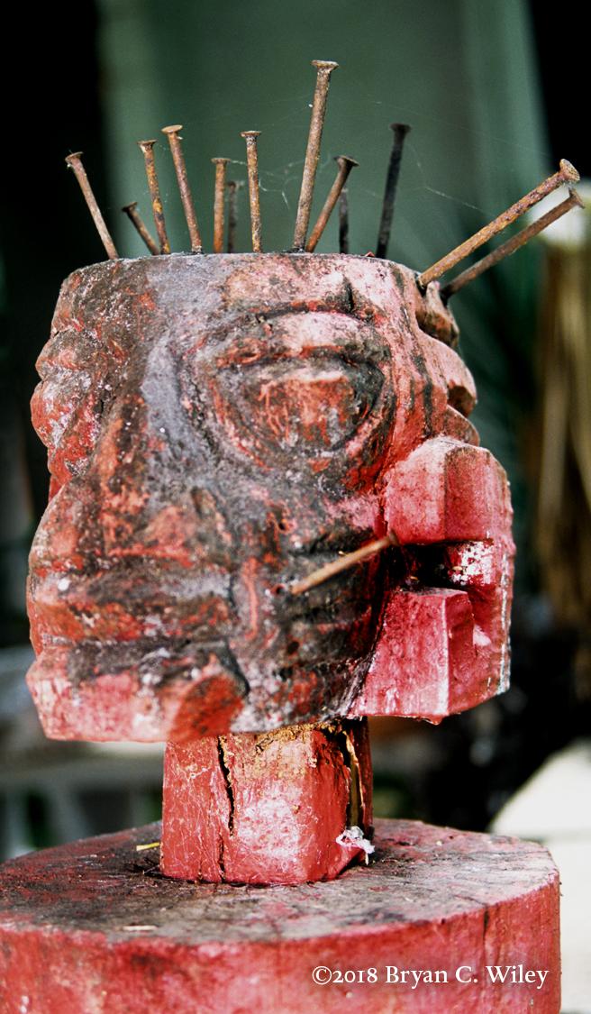 Ogun Carving by Esu ti Ogun Priest Olupona Olumuyiwa  Oyotunji African Village, SC