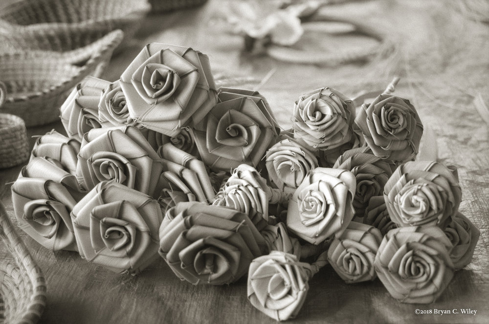 Woven roses by the Gullah women.  Charleston, SC