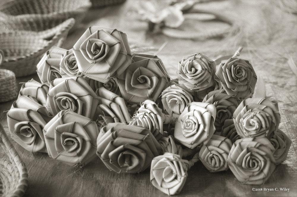 Woven roses by the Gullah women.  Charleston, SC