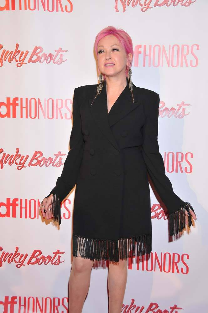 Cyndi Lauper at the Step and Repeat