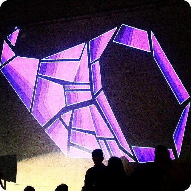FEAST Logo Projection Art