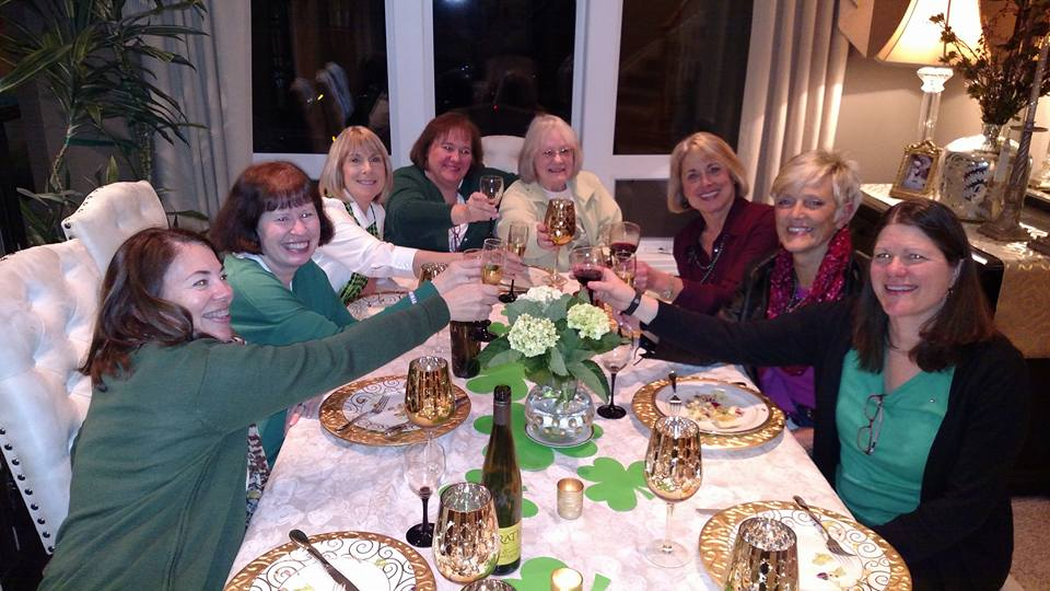 Cheers to the ladies near Portland, Oregon, enjoying a discussion about  Cabin by the Lake !