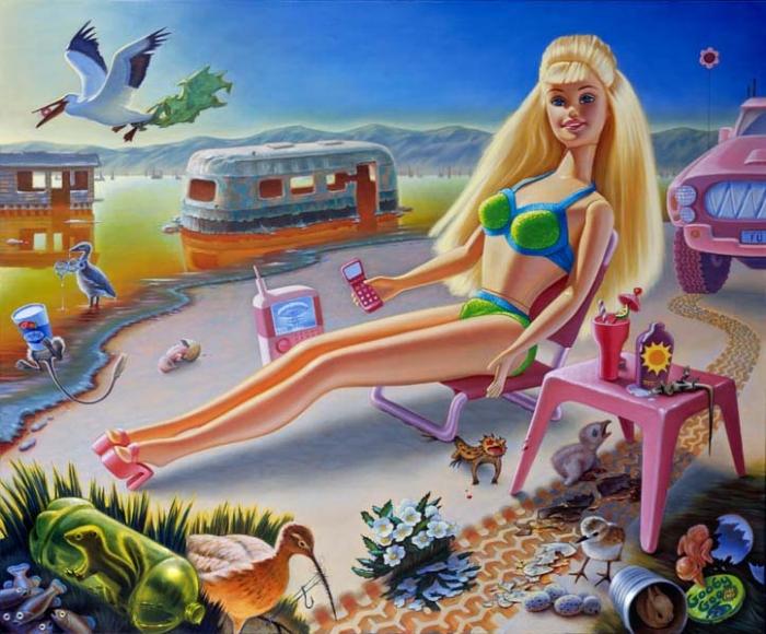 Jen Trute , Sunbathe Barbie at Bombay Beach