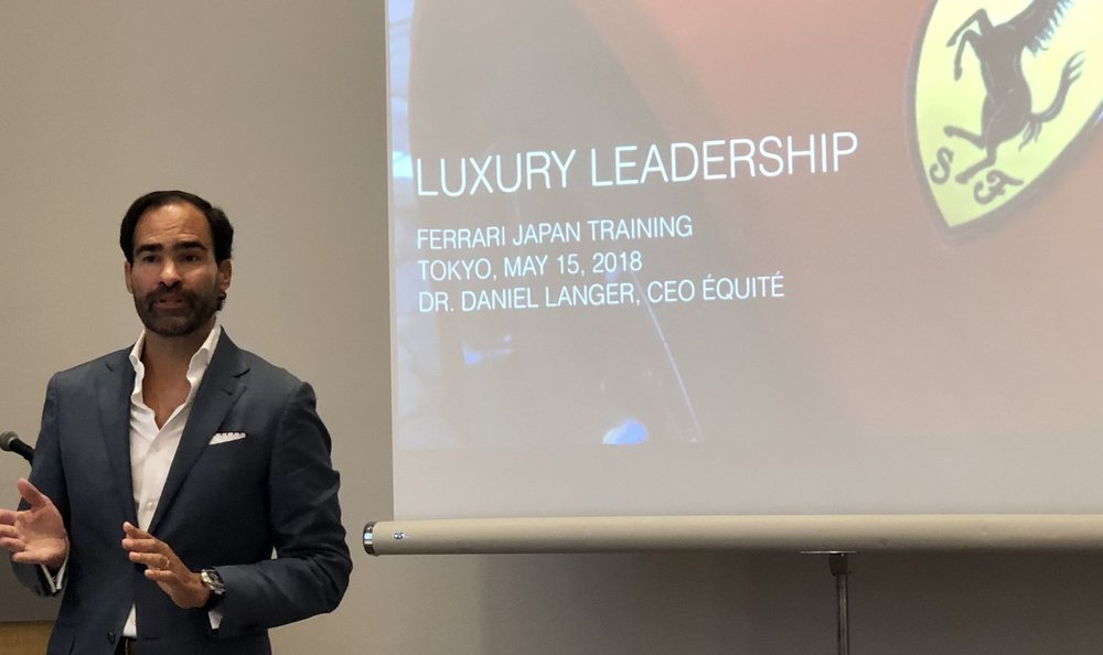 Équité CEO Daniel Langer Ferrari Luxury Leadership Training