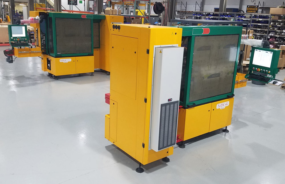 The MX4 multi-inspection machines detect defects in glass containers.
