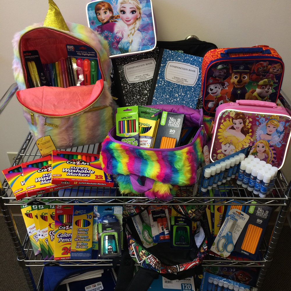 Intervala employees collected more than 500 new school supplies for students and teachers at Wilkins Primary