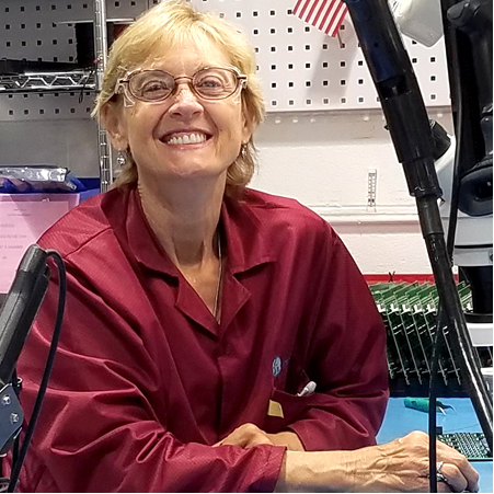 - What I like about coming to work each day is interacting with and helping people. When I am able to help someone in any way, it's a great feeling.Trudy Majetich, PCB Assembler 3, team member since October 2007