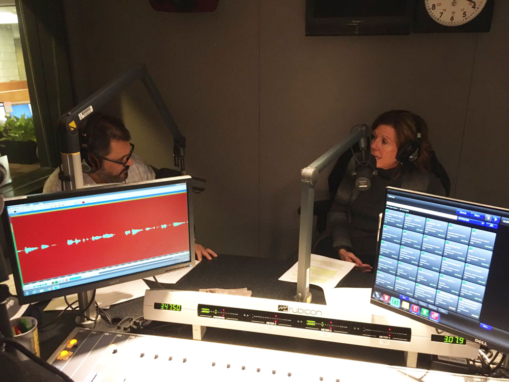 Intervala CEO Teresa Huber, right, is interviewed on TechVibe Radio by Pittsburgh Technology Council Board Chairman Jason Wolfe.