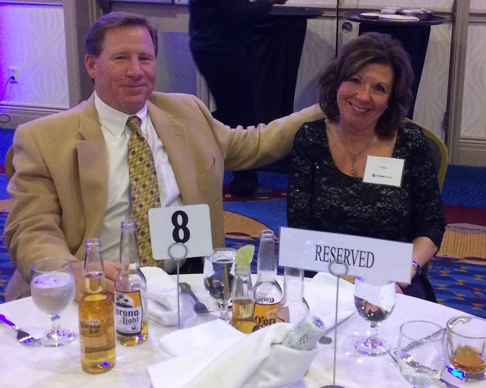 CEO Teresa Huber and husband Tom.