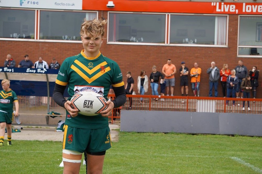 Callum Chapman (West Hull under 13's) was awarded 6TK man of the match after the 48-0 win over Myton Warriors