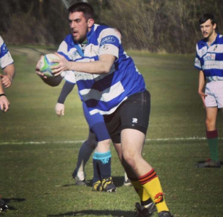 Sean Phelan playing for his local club -  Racal Decca RFC