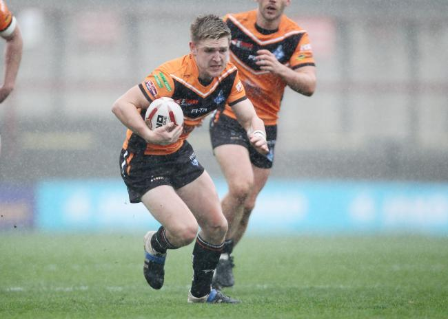 Harris playing for York City Knights. Credit: York Post