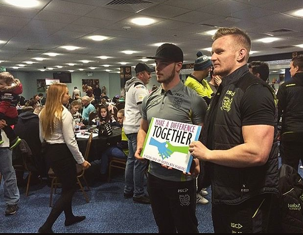 Connor Bower (right) is heavily involved in Grassroots and  the Hull FC community program