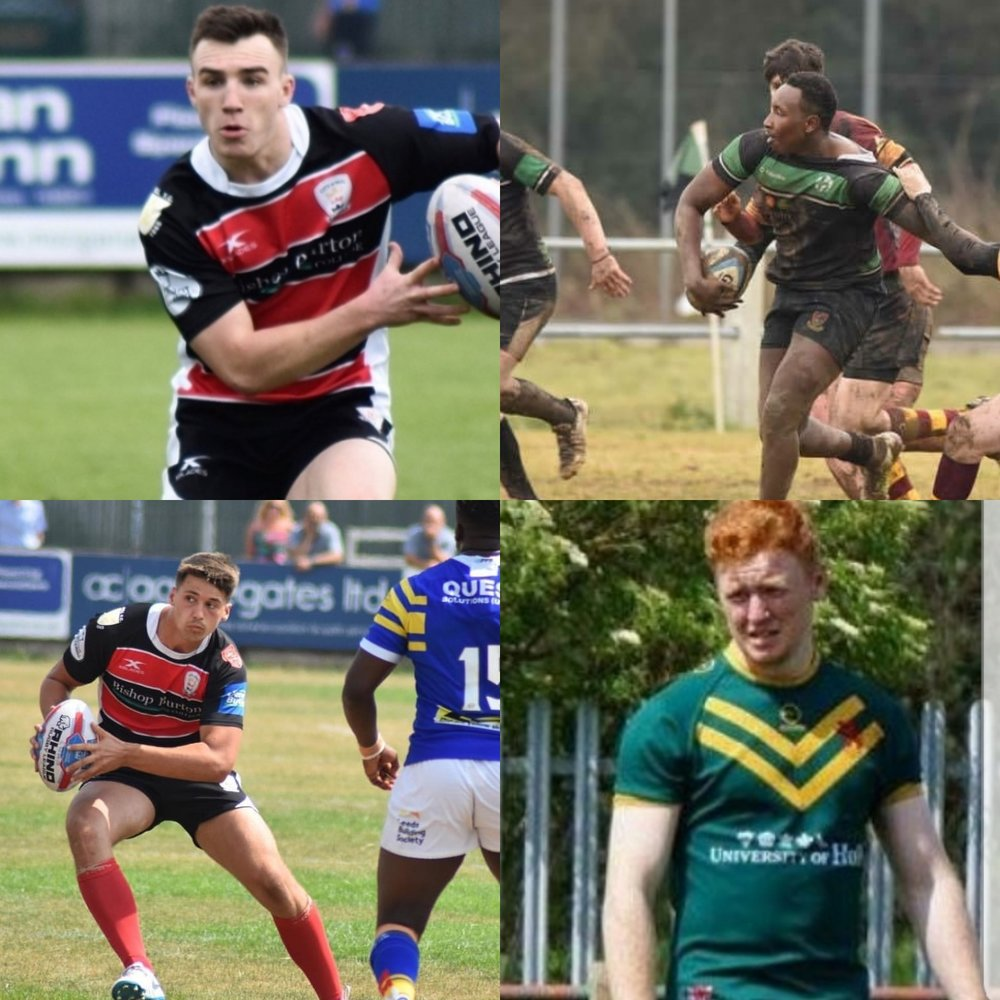 Lochlan Fitzgerald (top left) Johnta Nkonjera (top right)  Owen Harrison (bottom left) James Goulsbra-Miller (bottom right)