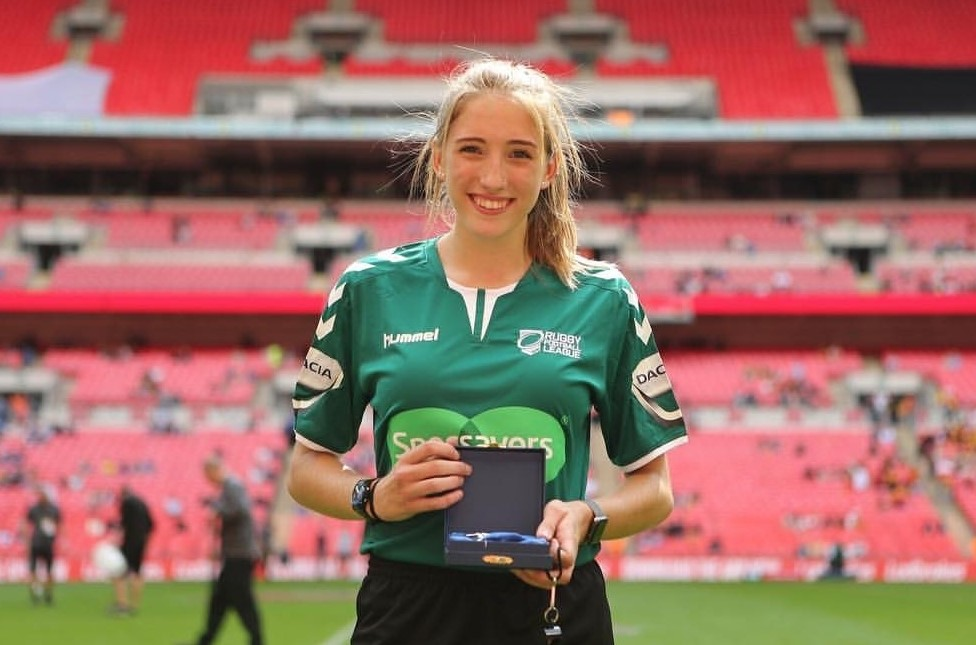 Caitlin Beevers was the first female referee at Wembley Stadium
