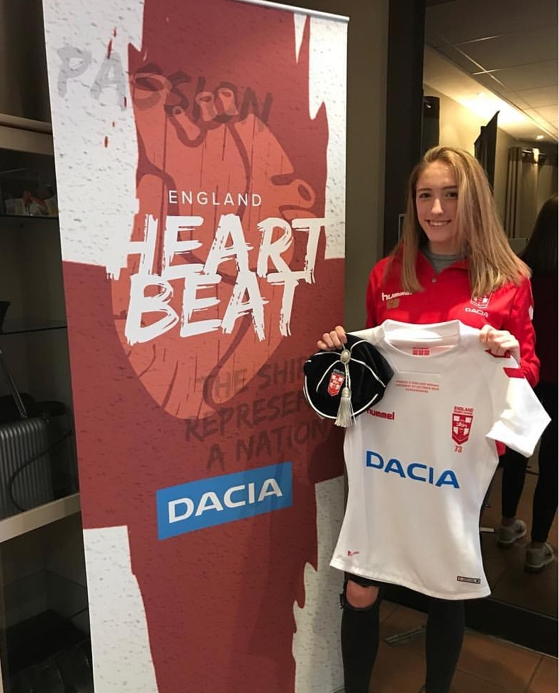 Caitlin received her first England Cap at the end of 2018