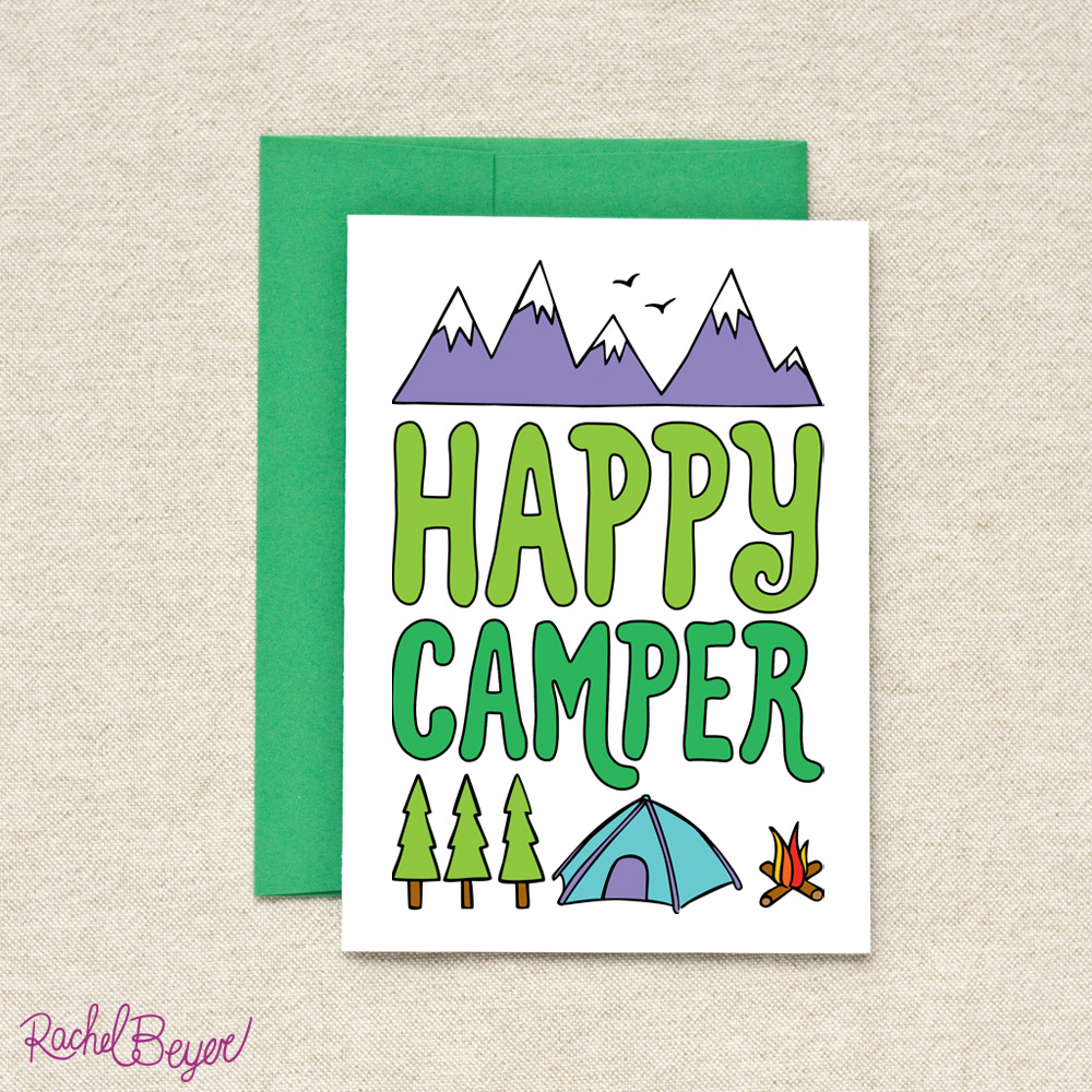 Camp smartypants greeting cards rachel beyer happycamperg m4hsunfo