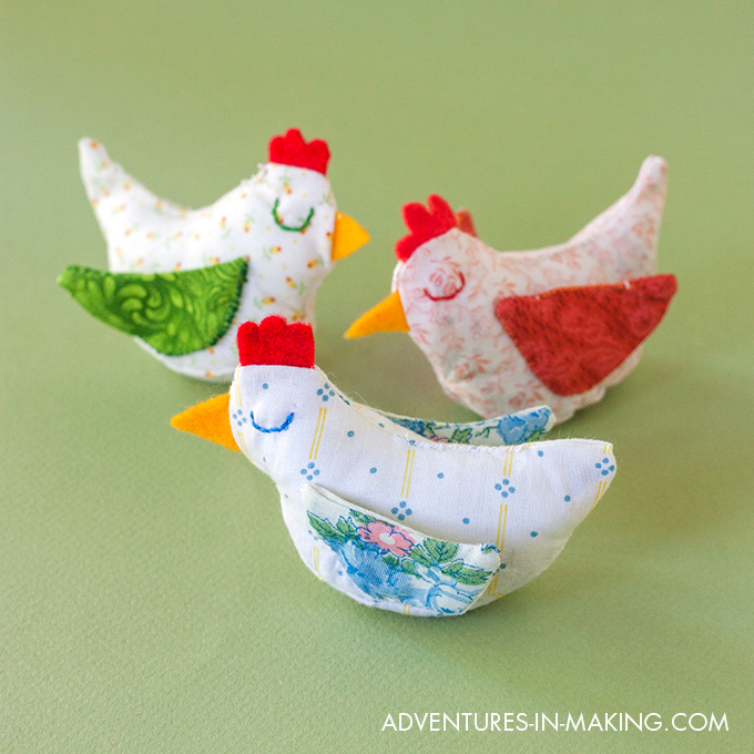 Spring Chicken Plushies