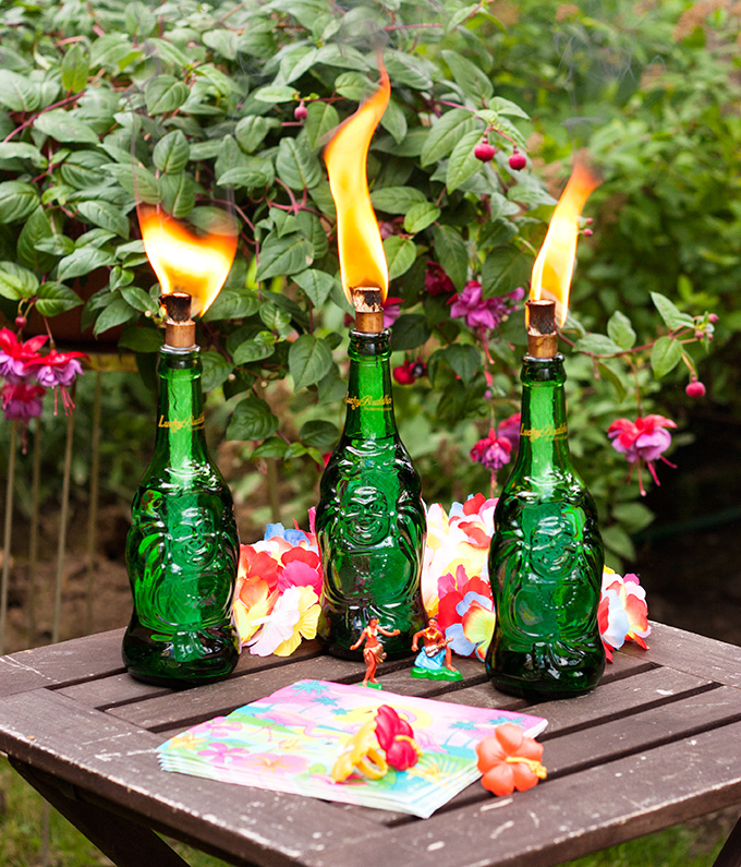 Lucky Buddha Tiki Torches