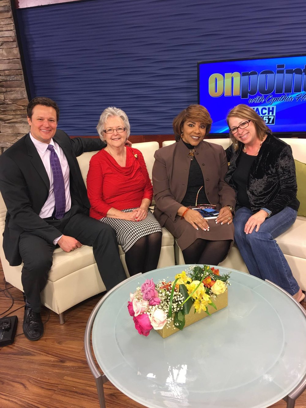 Cynthia in the wach studio with guests3.jpg