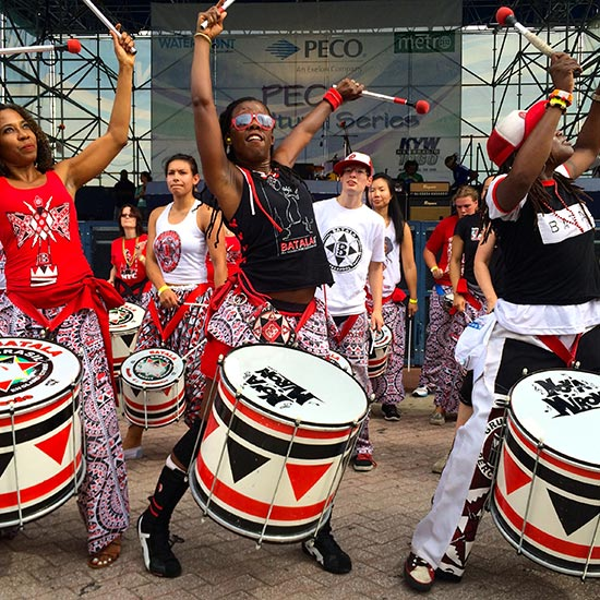 Batala New York - Batalá New York is a part of a global arts project made up of over 30 bands around the world. The music of Batalá originates in Salvador, the capital of the state of Bahia, in northeastern Brazil.