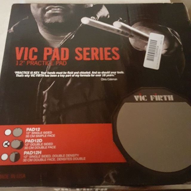 Another item being raffled off at Subterranean's Saint Valentine's Funky Massacree 2. #subtmusic #improvisationwithintent #vicfirthpracticepad