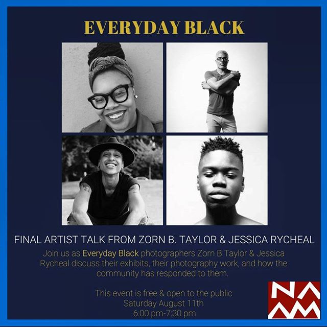 Looking forward to sitting down and talking about the Everyday Back exhibit with @jessicarycheal @naamnw this evening at 6:00pm. #naamnw #portraitphotography #afrofuturist #blacktothefuture #everydayblack #brownisgorgeous #hellahuman #zornimages #artist #artiststalk #seeyouthere