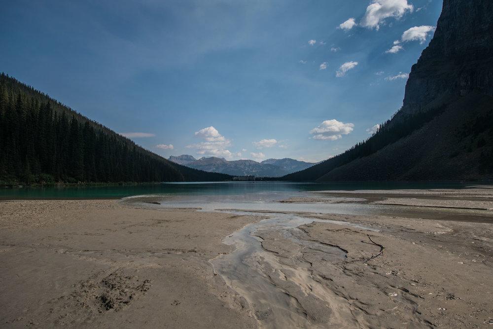 Back view of Lake Louise
