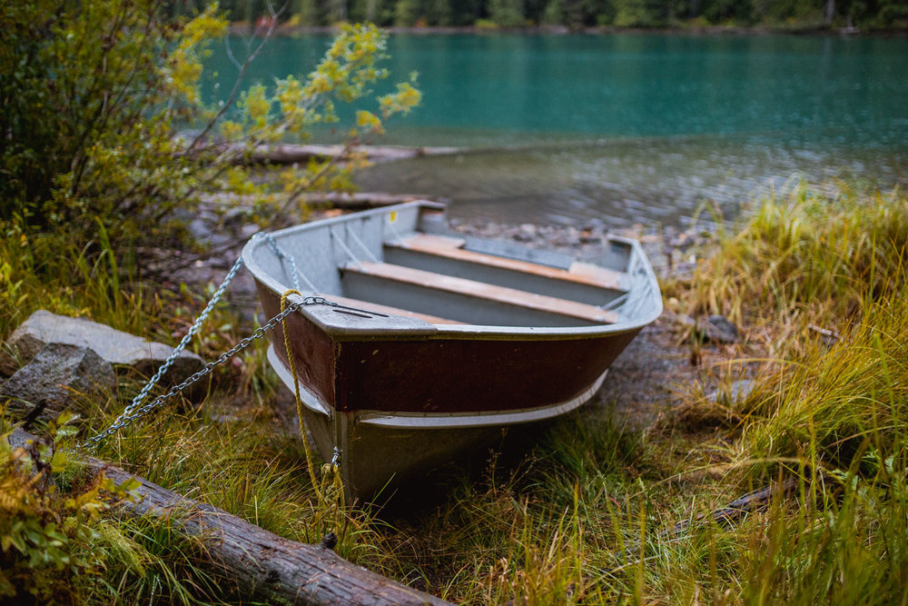 A rowboat I came across during the hike