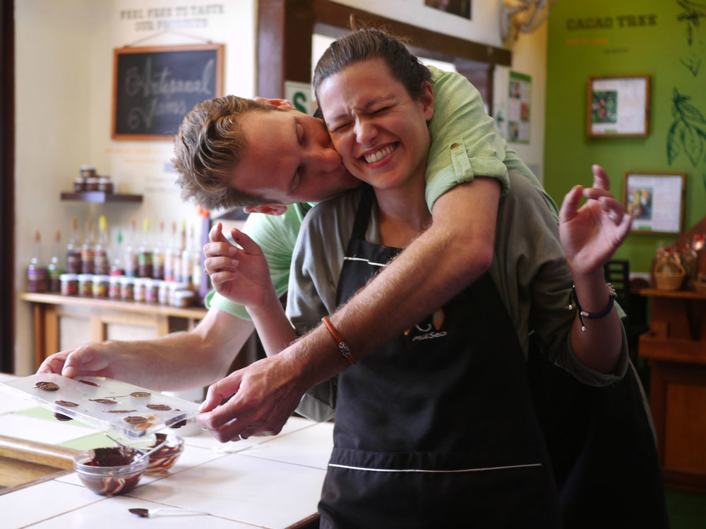 Behind moonbean chocolate: James and Denise